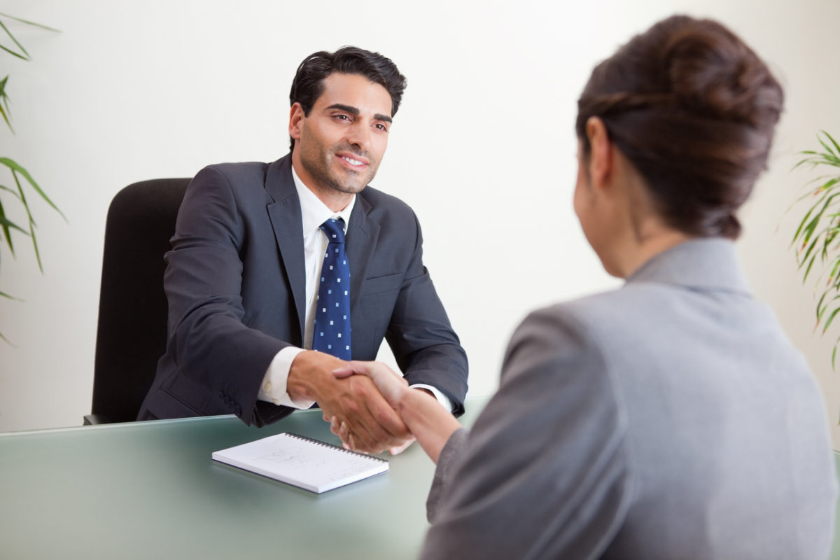 an in person interview ends in a successful hire